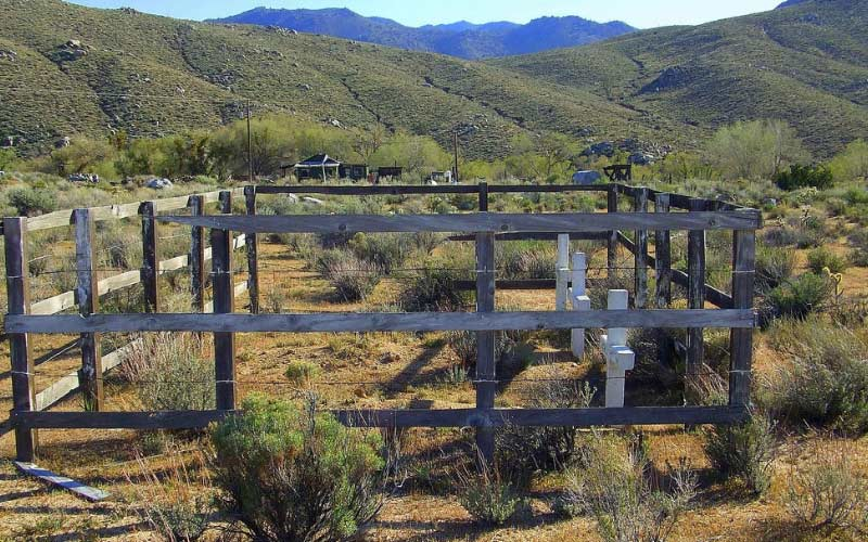 Not much remains in the Sageland ghost town, in Kern County California, but you should still be careful here.
