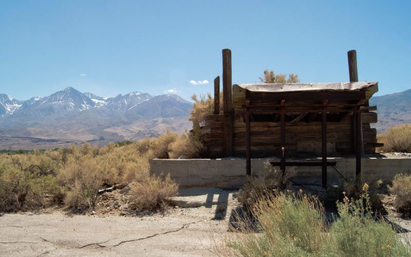 The old remnants of a station are all that remain at Zurich in Inyo County, if you don't count the spirits.
