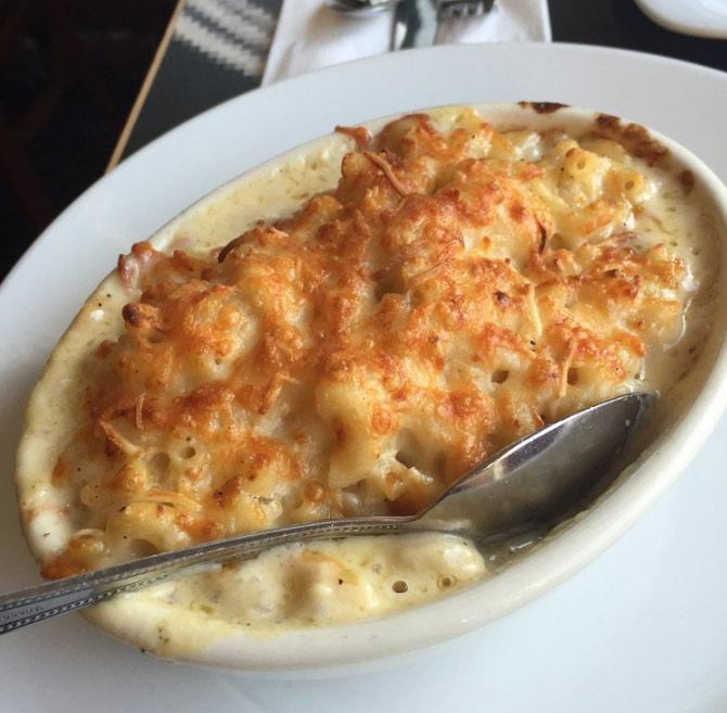 Baked Mac and Cheese is a comforting classic at The Kitchen in Los Angeles,