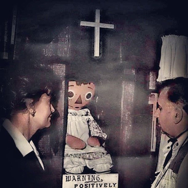 Annabelle doll at Warren museum