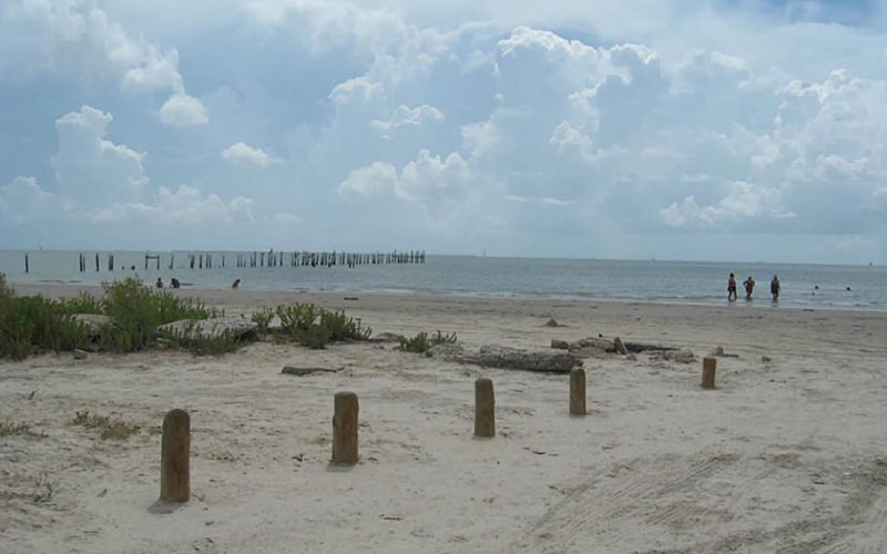 Seabrook, TX isn't the first place you would expect to find a hidden beach, especially one as haunted as this.