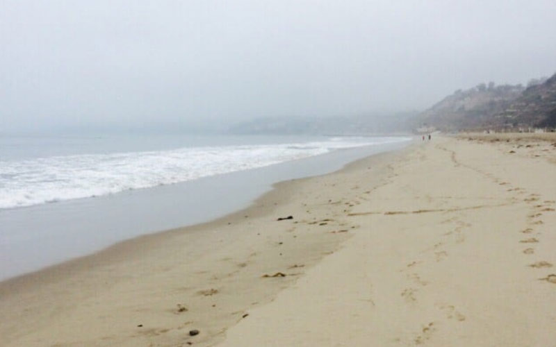 Will Rogers State Beach in the Pacific Palisades is especially spooky when it's misty. Visit during a California rain for full impact.