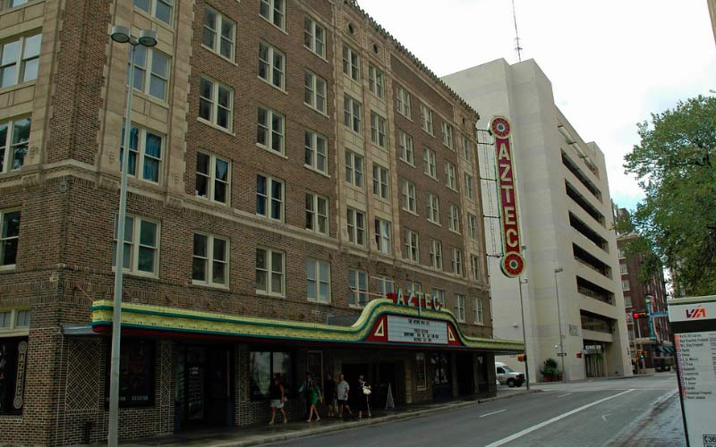 The Aztec Theater lets you step into cinema history, but history holds many horrors.