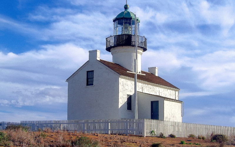 San Diego has a lighthouse. That statement alone should let you know that the lighthouse is haunted.