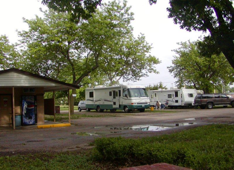 Pioneer Village is a fine place to park your RV and take a rest, but don't get too comfortable - you never know when you might need to make a quick escape.