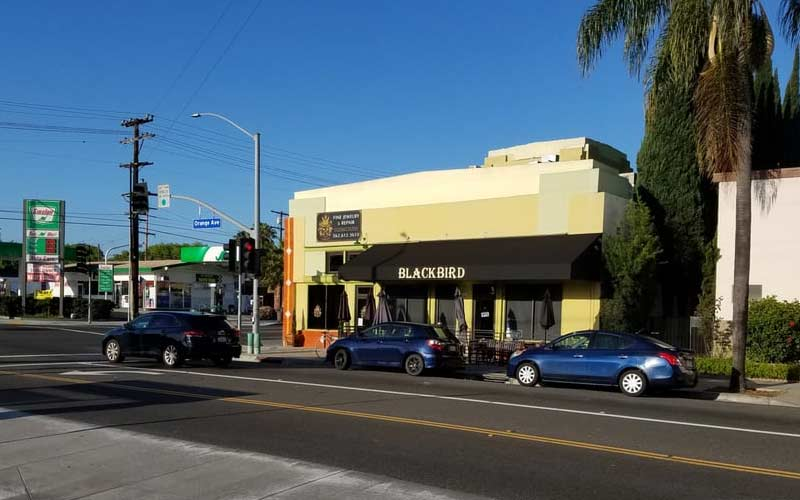 The Blackbird Cafe in Long Beach, California is much like the popular song, emphasis on dead and night.