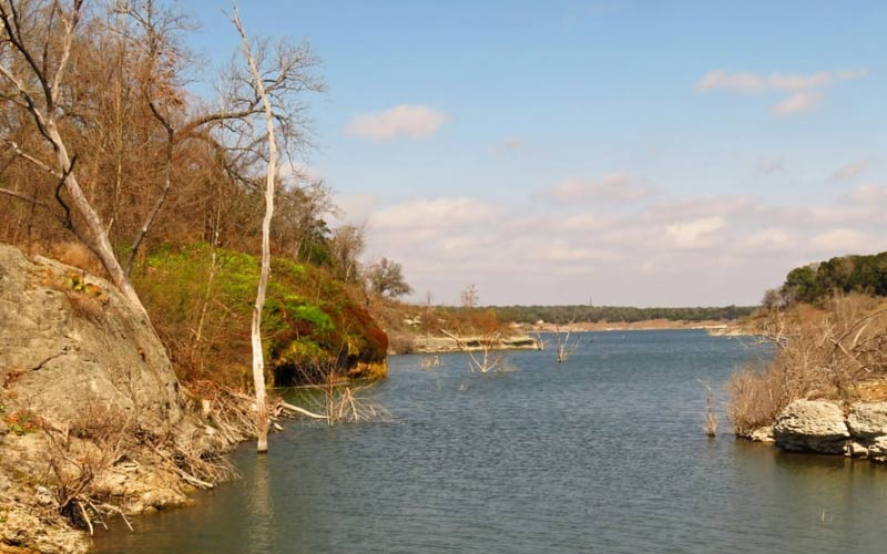 Lake Georgetown in Texas is particularly stunning in the fall, just be careful you don't.