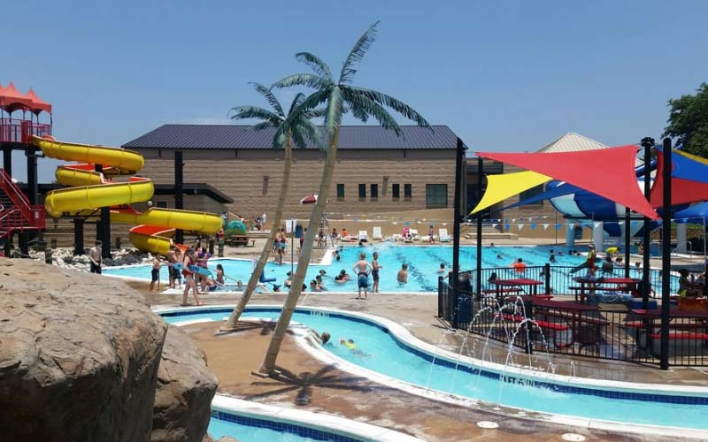 The Bedford Splash Aquatic Center is perfect on a hot Texas day.
