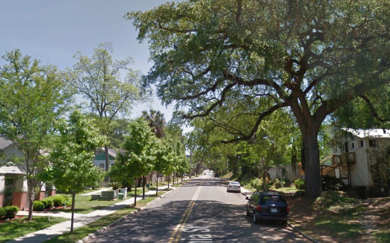 West Virginia St in Tellahassee Florida seems like a normal road in a normal community, until dark arrives.