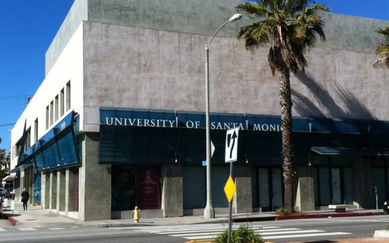 The University of Santa Monica isn't the biggest or fanciest school, but it is certainly one of the most haunted.