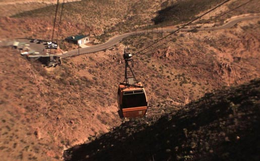 The haunted arial tramway in El Paso, TX.
