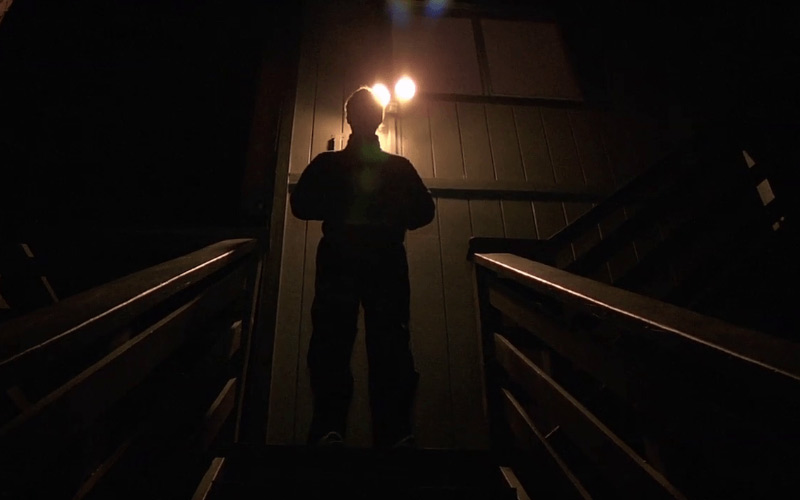 Creep is a slow paced found footage movie with a payoff.