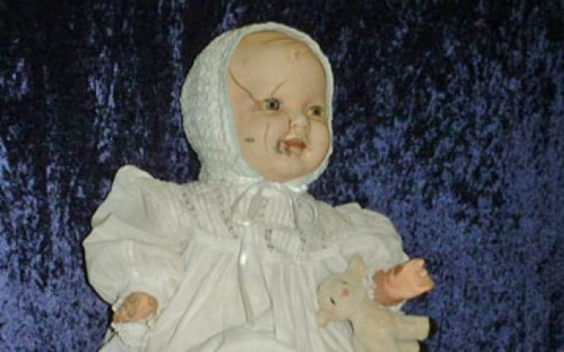 Mandy is a haunted doll that allegedly cries.