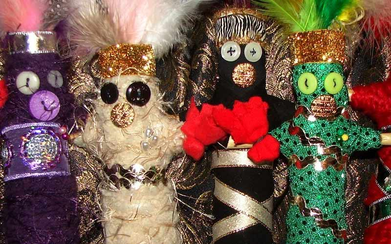 These are a more modern take on the traditional New Orleans Dolls of the Devil.