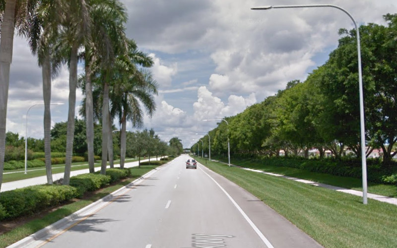 Glades Pkwy in Weston, Florida has been known to lull drivers into a deep sleep until the moment of impact.