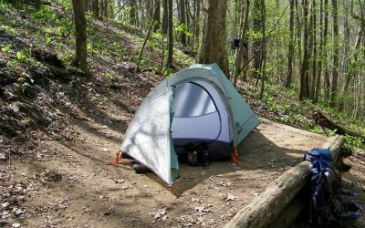 If you don't want to stay in one of the Appalachian Trail shelters, you can camp out in your tent.