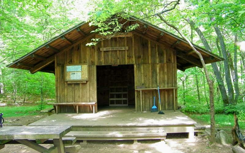 The Deep Gap Shelter, south of Dicks Creek Gap