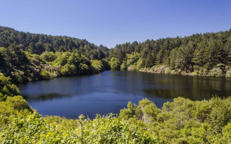 Bass Lake in Point Reyes, Northern California