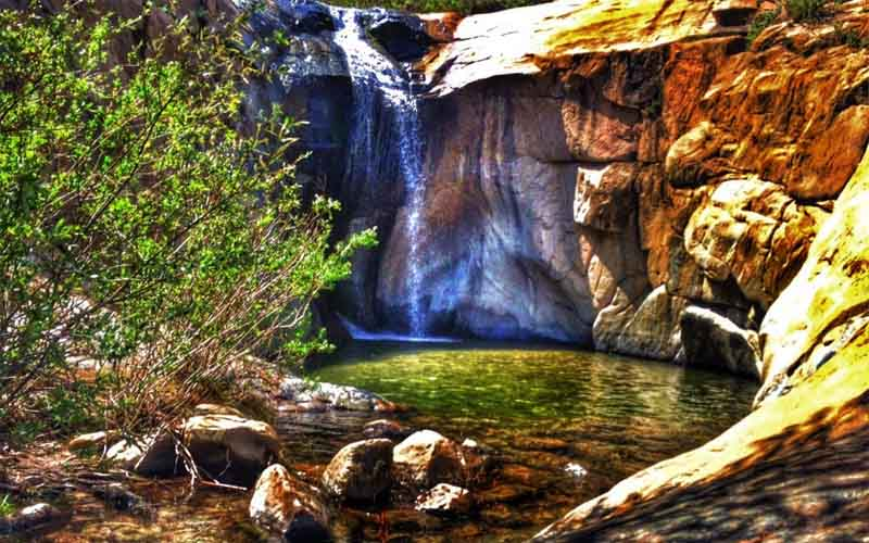 Three Sisters Falls in Pine Valley, California