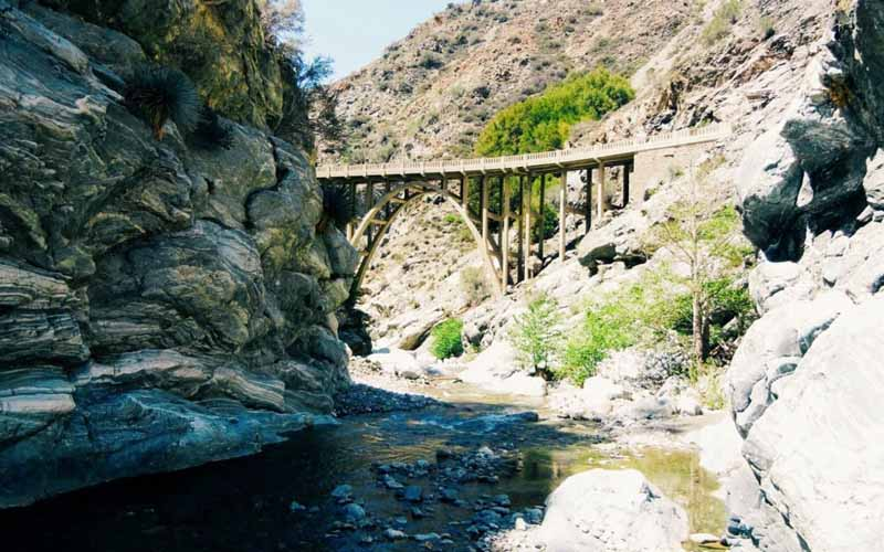 Bridge to Nowhere in East Fork San Gabriel River, Azusa, California
