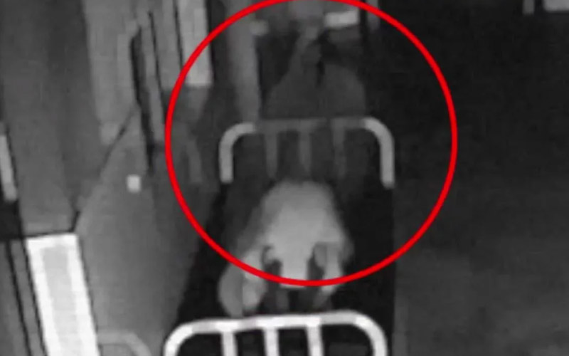 Ghost Coming Out Of A Dead Body Caught By This Security Camera?