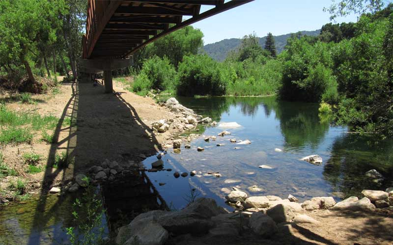 San Antonio Creek in San Antonio, California