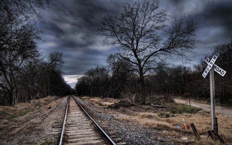 Ghost Railroad Track in San Antonio, Texas