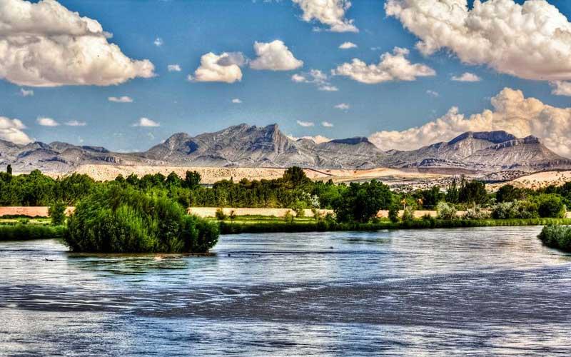 Rio Grande in El Paso, Texas