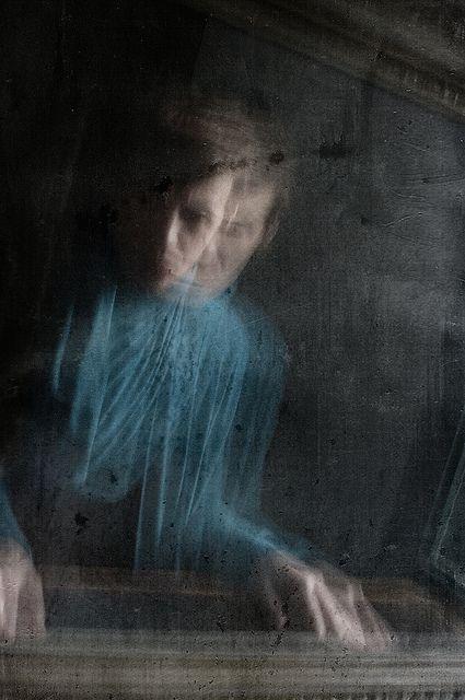 Ghost of a boy outside the window.