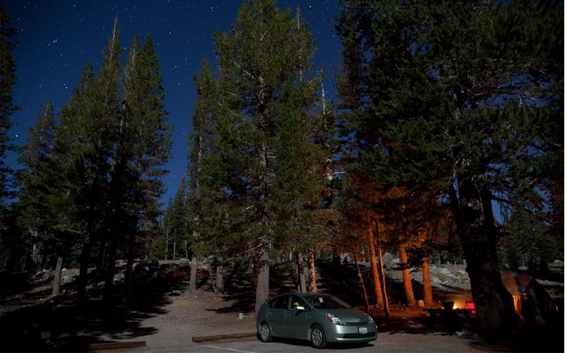 Lake Mary Campground in Mammoth Lakes, California