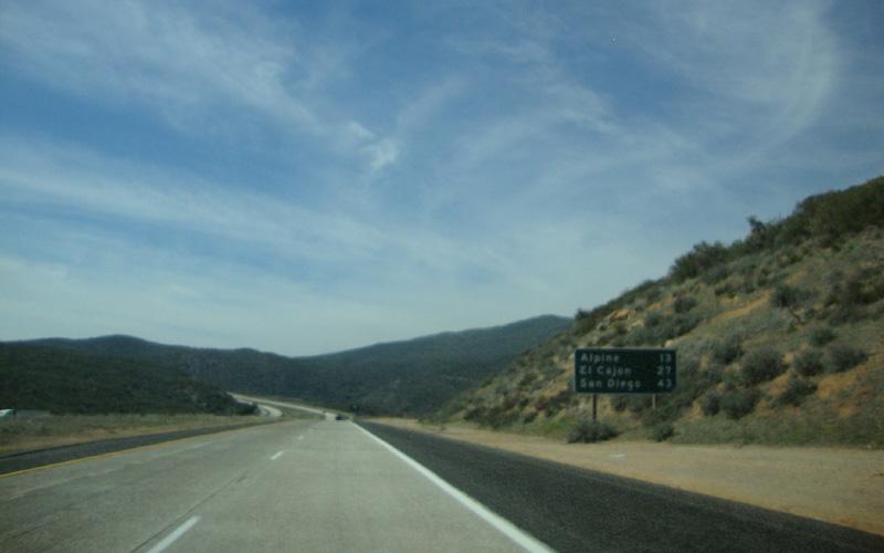 San Diego Freeway near El Cajon, California