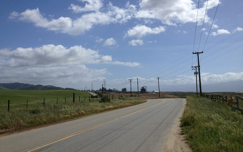 Old Stage Road in Salinas, California