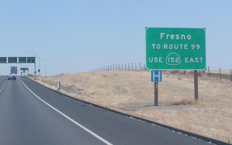 California Route 99 in Fresno, California