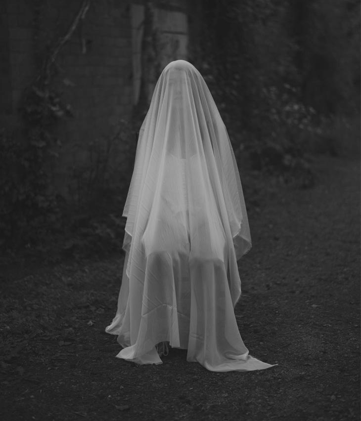 ghost girl in road