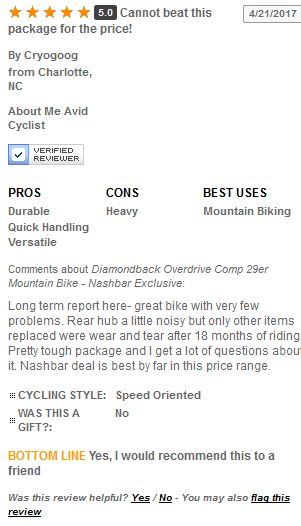 Diamondback Overdrive Comp 29er User Reviews and Ratings 2