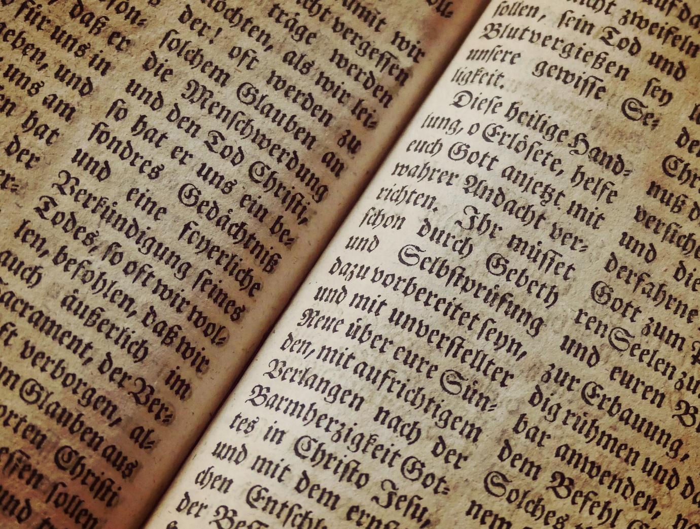 Bibliomancy is a form of divination.