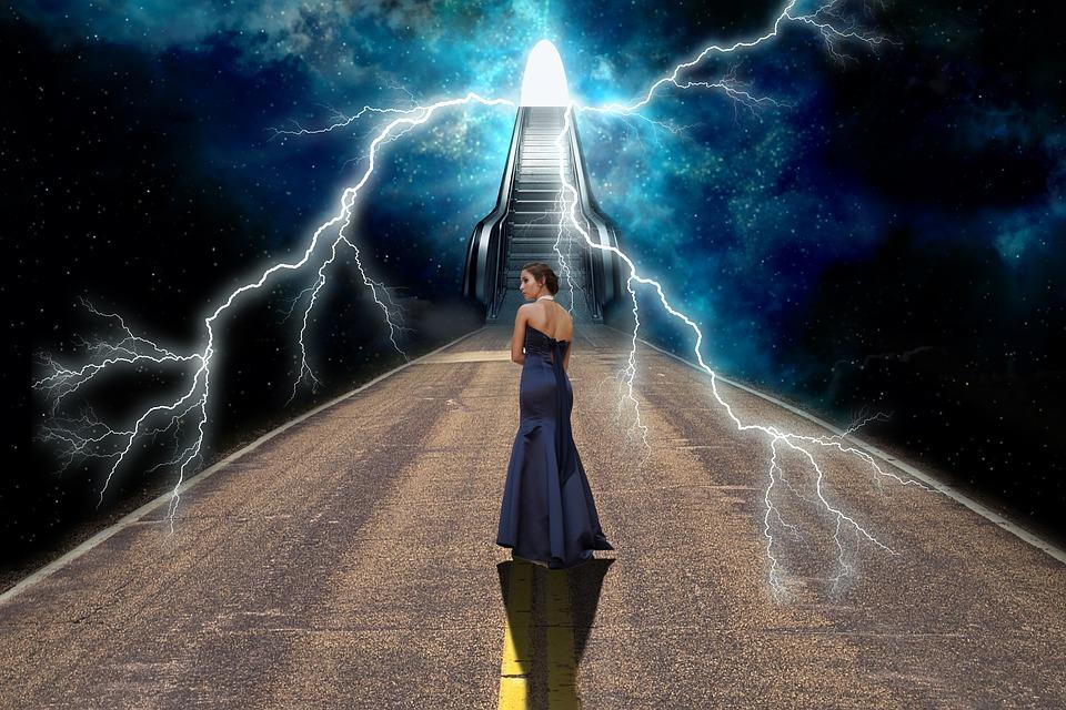 A large change in energy usually precedes the formation of a portal to the spirit world.