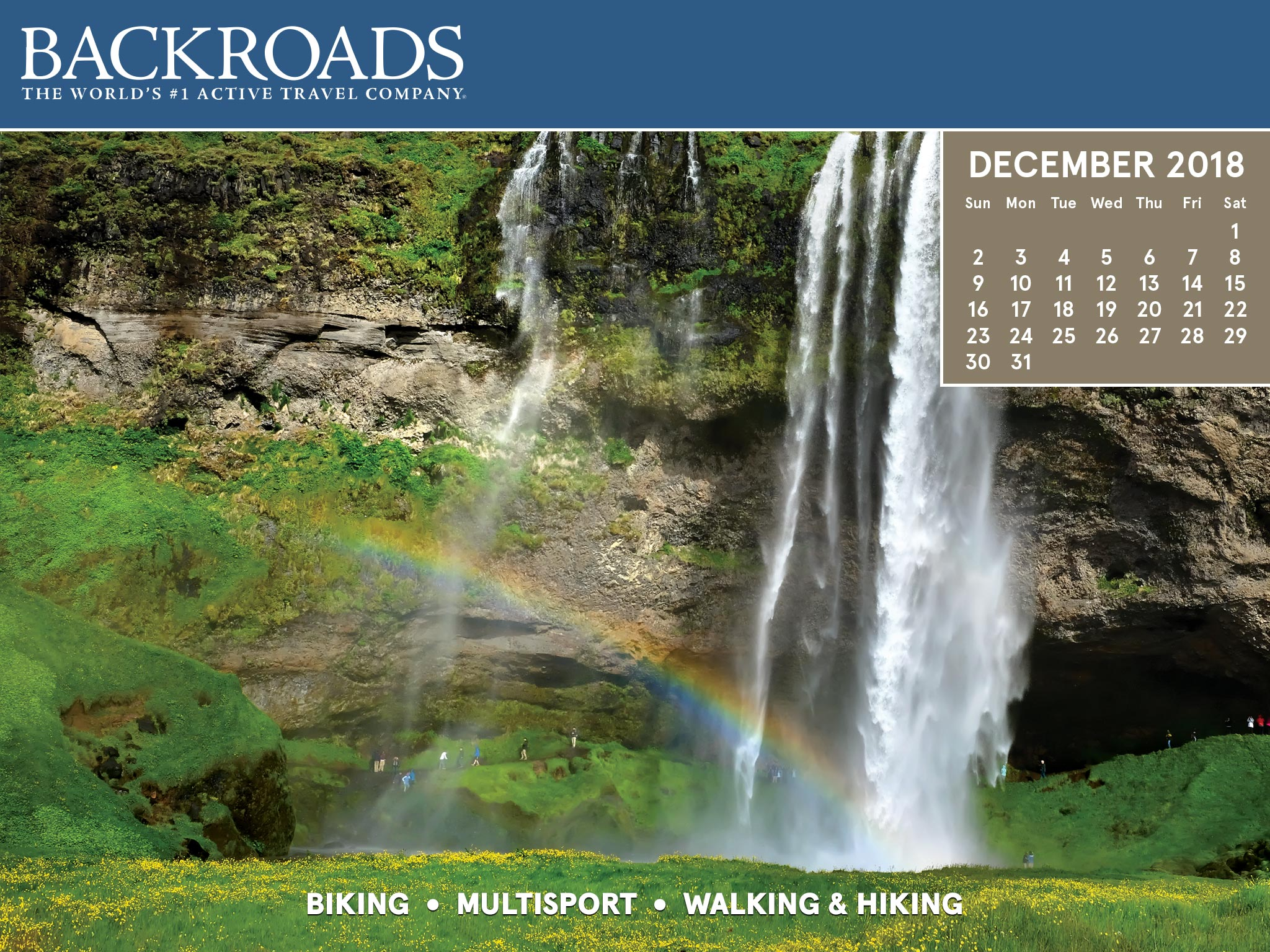 Active Travel Desktop Calendars