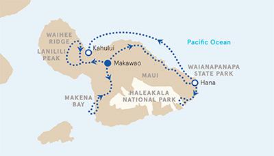 Maui Yoga Multi-Adventure Tour Map