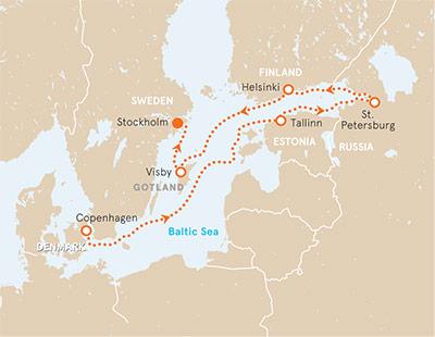 Baltic Sea Ocean Cruise Map