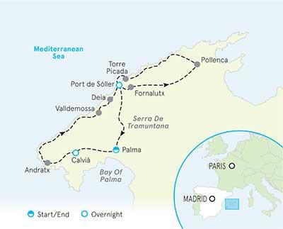 Mallorca, Spain Map