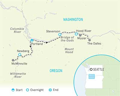 Columbia River Gorge & Willamette Valley Map