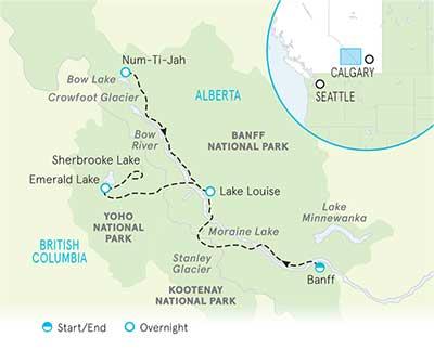 Banff & Yoho Map