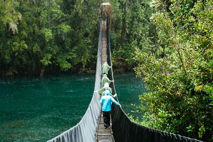 Crossing the river - Chile Family Multi-Adventure Tour