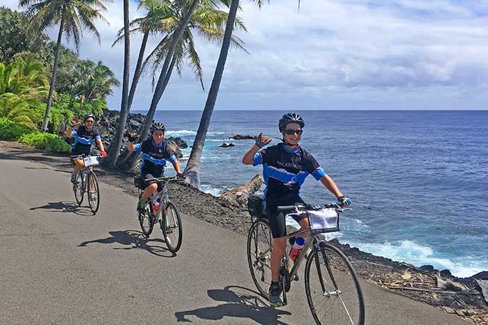 Family Biking in Hawaii Big Island