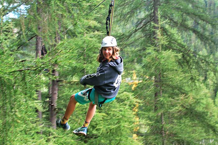 Ziplining in the Dolomites