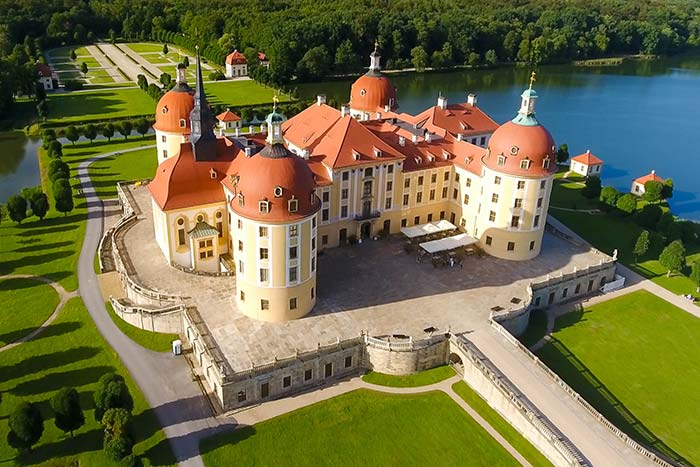 Moritzburg Castle in Saxony, Germany
