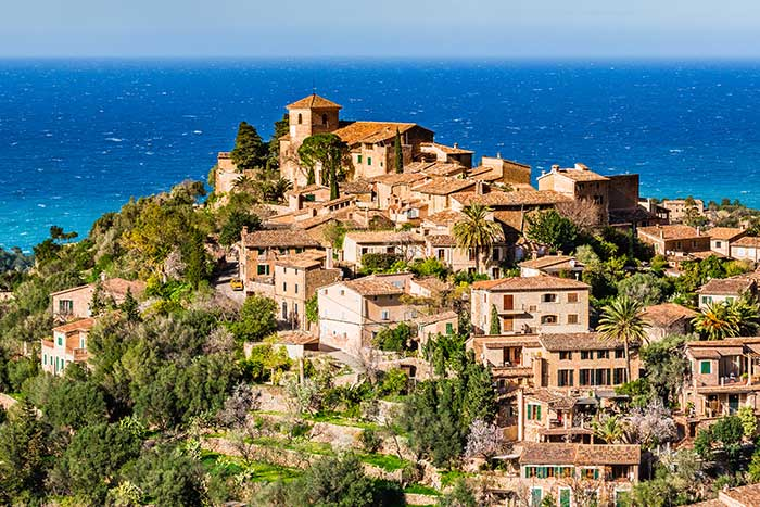 Hillside Village, Deia, Mallorca, Spain