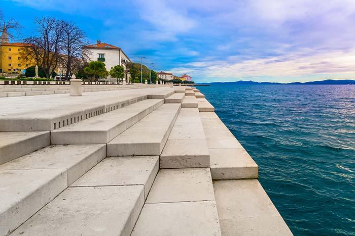 Sea Organ in Zadar, Croatia