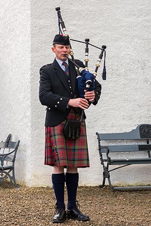 Man Paying Bagpipes, Scotland